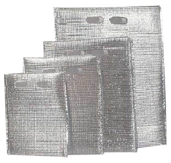 【猛暑・節電対策】保冷・保温袋アルバック平袋(持ち手付)LL (50枚入)「AAL-28」