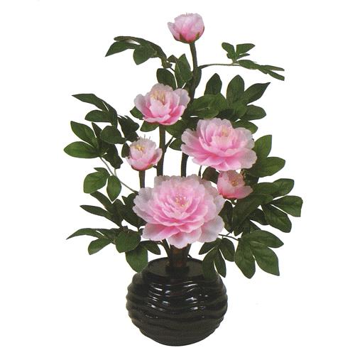 盆提灯 盆ちょうちん 花飾り 造花 初盆 新盆 『ルミナス 牡丹 12号 ≪ピンク≫ 1個 高さ55cm』
