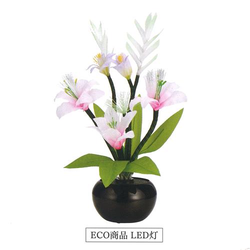 盆提灯 盆ちょうちん 花飾り 造花 初盆 新盆 『ルミナス グラジオラスLED 1個 高さ48cm』