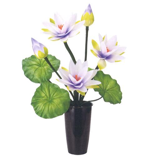 盆提灯 盆ちょうちん 花飾り 造花 初盆 新盆 『ルミナス ロータス 3号 1個 高さ63cm』