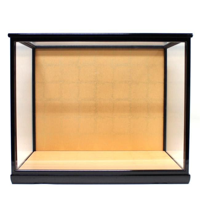 人形用ガラスケース(前扉式)『横長-特大』(内寸:幅50cm×奥行30cm×高さ40cm)