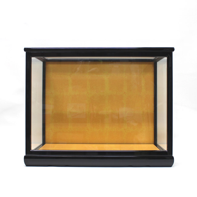 人形用ガラスケース(前扉式)『横長-中』(内寸:幅41cm×奥行22cm×高さ30cm)