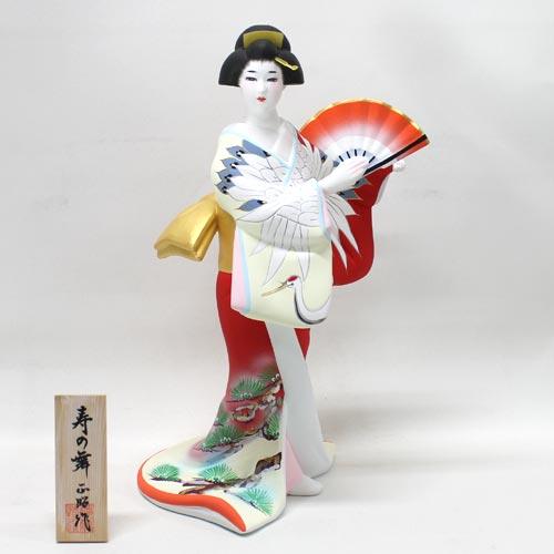 【博多人形】【美人物(立姿)】『寿の舞 正昭作』