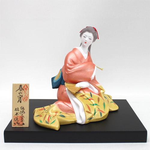 【博多人形】【美人物(座姿)】『春の宵 進作』