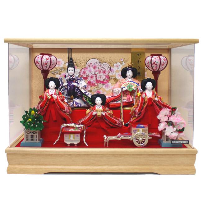【雛人形】【ケース飾り】『ケース入り雛人形 五人飾り アクリルケース』