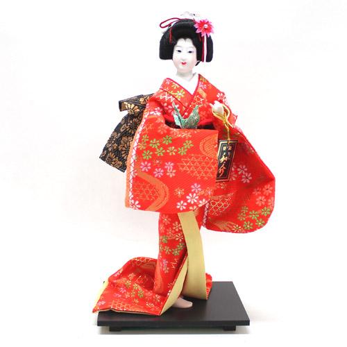 日本人形 尾山人形 金襴『祝鶴 6号』