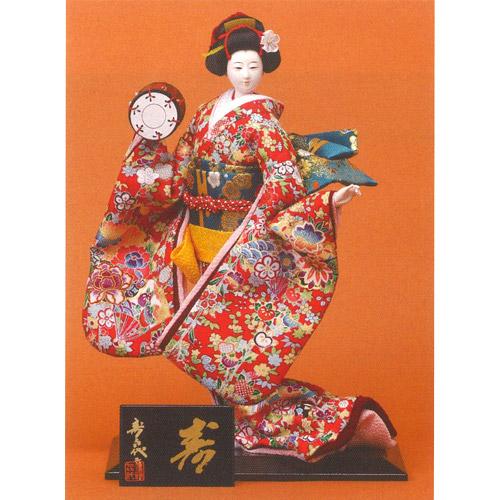 日本人形 尾山人形 『寿喜代作 寿 正絹 鼓 6号』