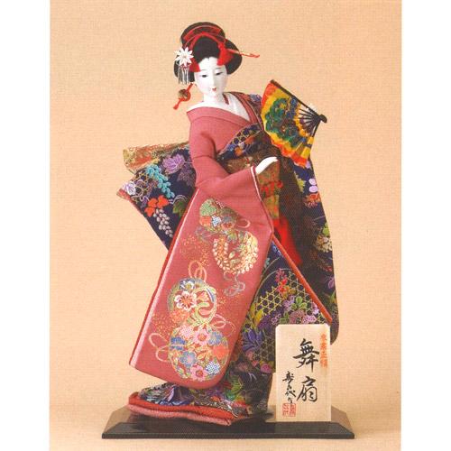 日本人形 尾山人形『寿喜代作 舞扇 正絹 扇 10号』