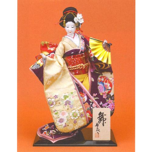 日本人形 尾山人形『寿喜代作 舞 友禅 扇 10号』