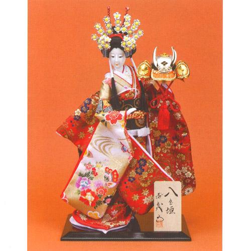 日本人形 尾山人形『寿喜代作 八重垣 金らん 10号』