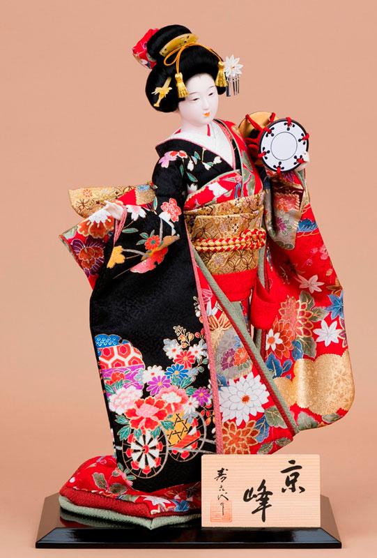 日本人形 尾山人形 極上本頭『寿喜代作 京峰 正絹 鼓 10号』