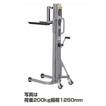 ハンドリフト 100kg 揚程950mm 【代引不可】