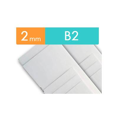 紙貼りパネル【2mm厚】 - B2判 (20枚1組)