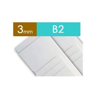 紙貼りパネル【3mm厚】 - B2判 (20枚1組)