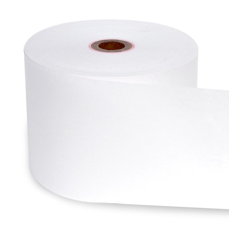 感熱レジロール紙 資材PLAZAオリジナル ノーマル 中保存対応 7年保存 80×80×12mm (63m巻) 【100巻入】