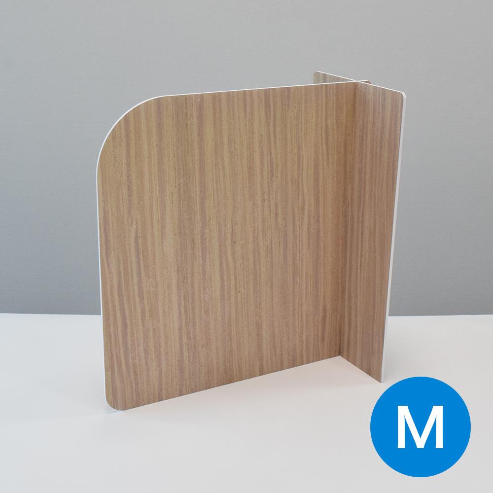飛沫防止 スチレンパーテーション カウンター式 木目調(Mサイズ:W430mm×H440mm)10セット