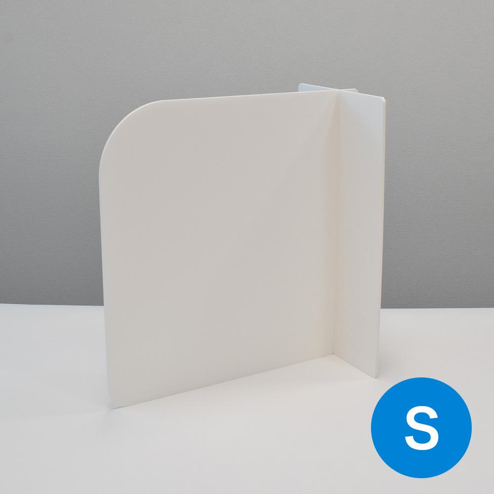 飛沫防止 スチレンパーテーション カウンター式 白(Sサイズ:W285mm×H430mm)10セット