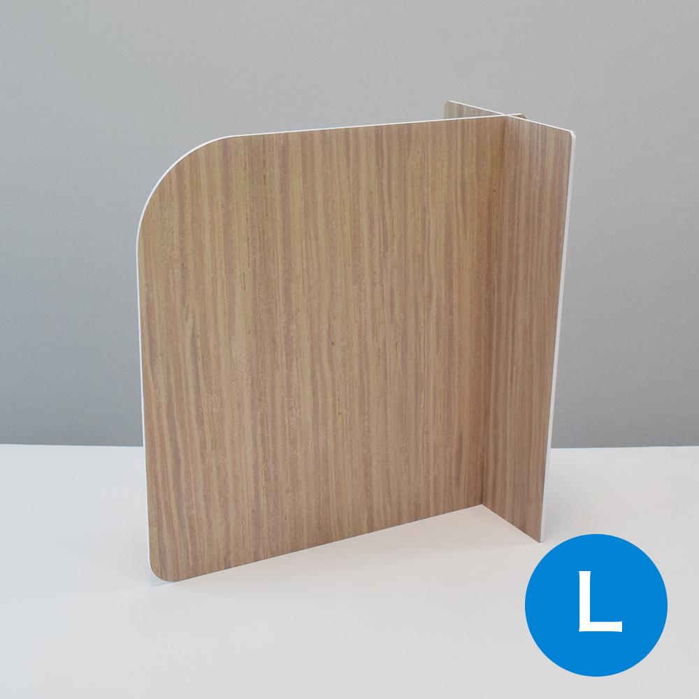 飛沫防止 スチレンパーテーション カウンター式 木目調(Lサイズ:W580mm×H440mm)10セット
