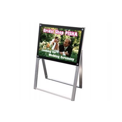 ポスター用スタンド看板 (片面・A2横・ブラック)・ポスタースタンド・ポスターフレーム・ポスターパネル