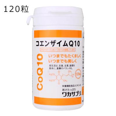 サプリメント コエンザイムQ10 120粒 【ワカサプリ】 酸化型コエンザイムQ10 ビタミンE配合 100%国産コエンザイムQ10使用