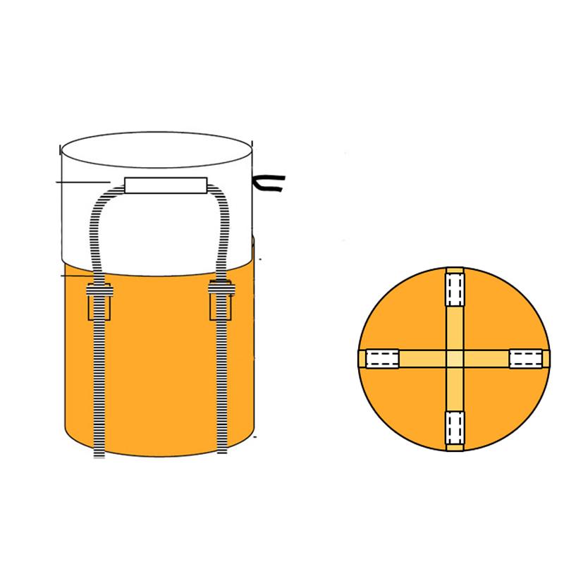 フジテックス フレコンバックフレキシブルコンテナバッグ Aタイプ バージン材 (100枚入り) 投入口全開 排出口なし 耐荷重1t 反転ベルトなし UVあり 大型土のう袋 土嚢袋 トンバッグ トン袋