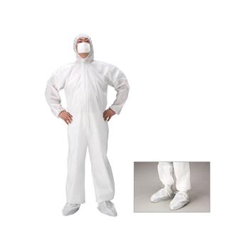 アスベスト除去作業用 防護服 靴カバー付(100着)・石綿