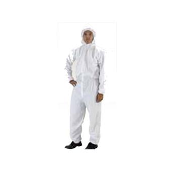 不織布作業服 防水透湿性素材 サイズL(40着)・保護服・ツナギ服