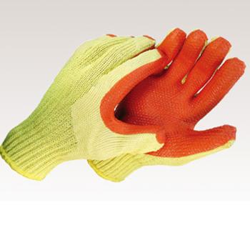 産廃用 ゴム手袋(20双)・天然ゴム張り・CE規格カットレベル4