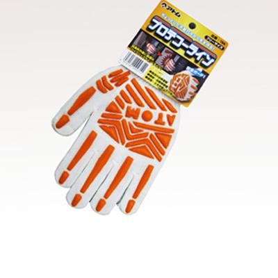 物流用 プロテクター手袋(50双)・プロテクター・天然ゴム・ハイグリップラインタイプ