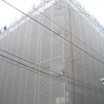 ターピーストロングメッシュ 3.6×5.4m グレー(5枚)・耐候性約3年