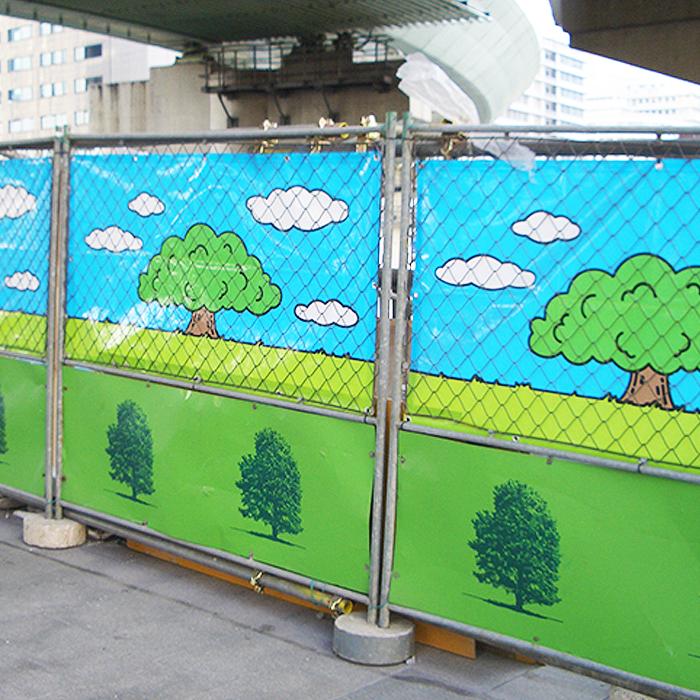 デザインフェンスシート 0.9×1.7m (60枚) 工事用フェンス・目隠しシート