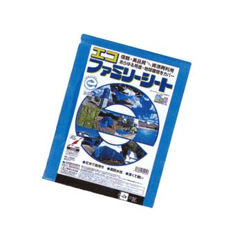 エコファミリーシート エコファミリーシート エコファミリーシート #3000 1.8×3.6m (25枚)・エコマーク取得(グリーン購入法適合商品)・ブルーシート cac