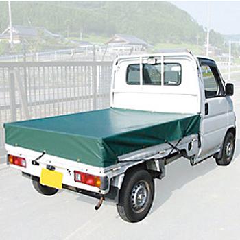エステル帆布製 トラックシート約190×210cm(12枚)・荷台シート・ポリエステル・ゴムバンド2本つき