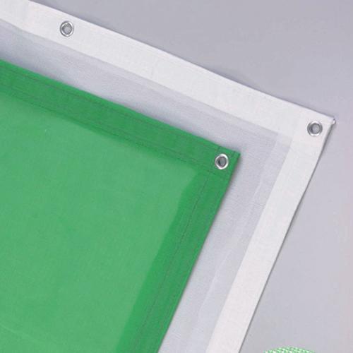 塗装飛散防止用ラッセルメッシュシート 1.8×5.4m ホワイト(10枚)