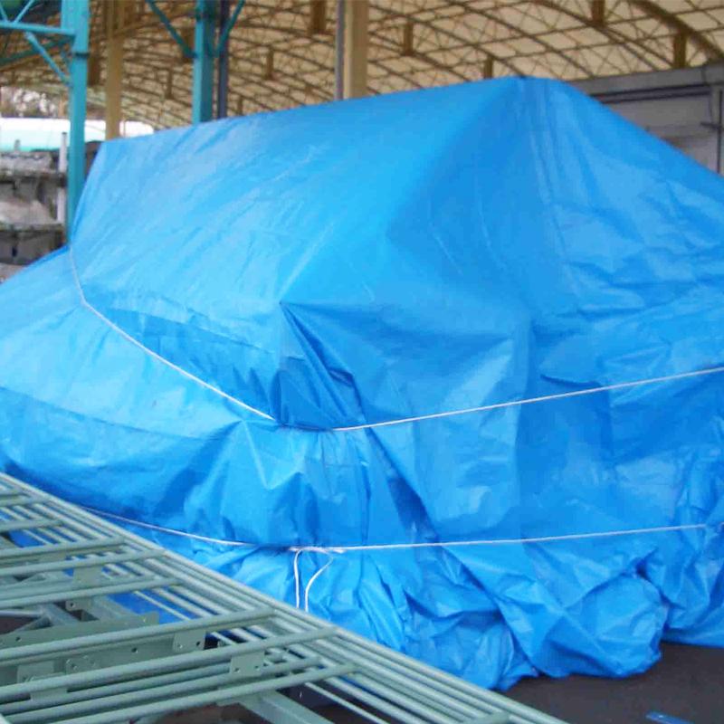 国産OSシート #2500 10×15m(1枚)・厚み約0.18mmのスタンダードなブルーシート