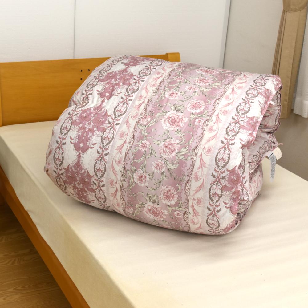 羽毛布団 ふとん ハンガリーシルバーグース90%スモールフェザー10% ダブルロング 布団 掛布団 西川リビング 日本製