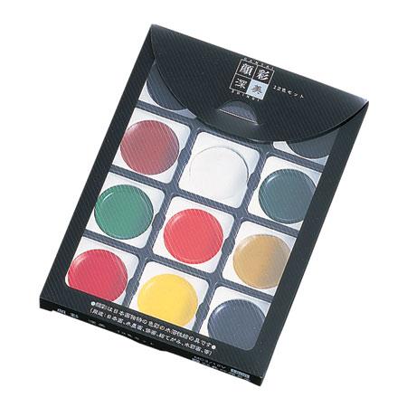 販売 顔彩は日本画独特に色彩で 筆運びによる濃淡 滲みなどが自由に表現できます 日本産 呉竹 12色セット 顔彩深美 1セットまでメール便可 絵手紙