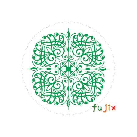 フジ 紙コースター 菊丸緑(丸型)厚み1mm 2000枚(100枚×20束)/ケース