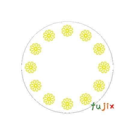 【受注生産】フジ 紙コースター コスモス小花(丸型)厚み1mm 2000枚(100枚×20束)/ケース×3ケース分