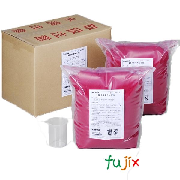 業務用 入浴剤「サクラ」15kg (7.5kg×2)×1本/ケース フェニックス