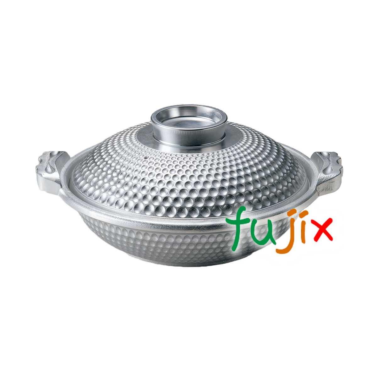 よろず鍋 φ25 白銀 深 蓋付 1個 M11-062 アルミ合金製