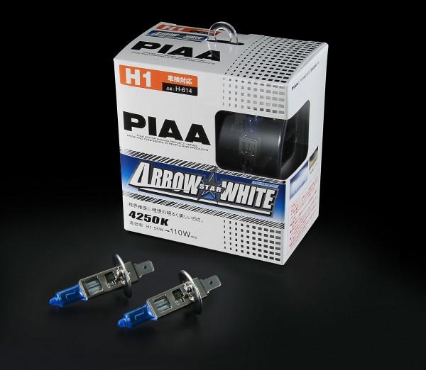 PIAA 卤素灯泡箭头 ☆ 白色 H1 H-614