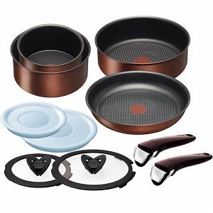 不粘锅烹饪用具为种植园新 IH 青铜设置 10 L 32792 设置 IH