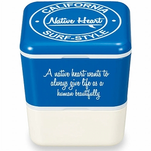 附带正和盒饭NativeHeart广场巢午餐保冷液的蓝色