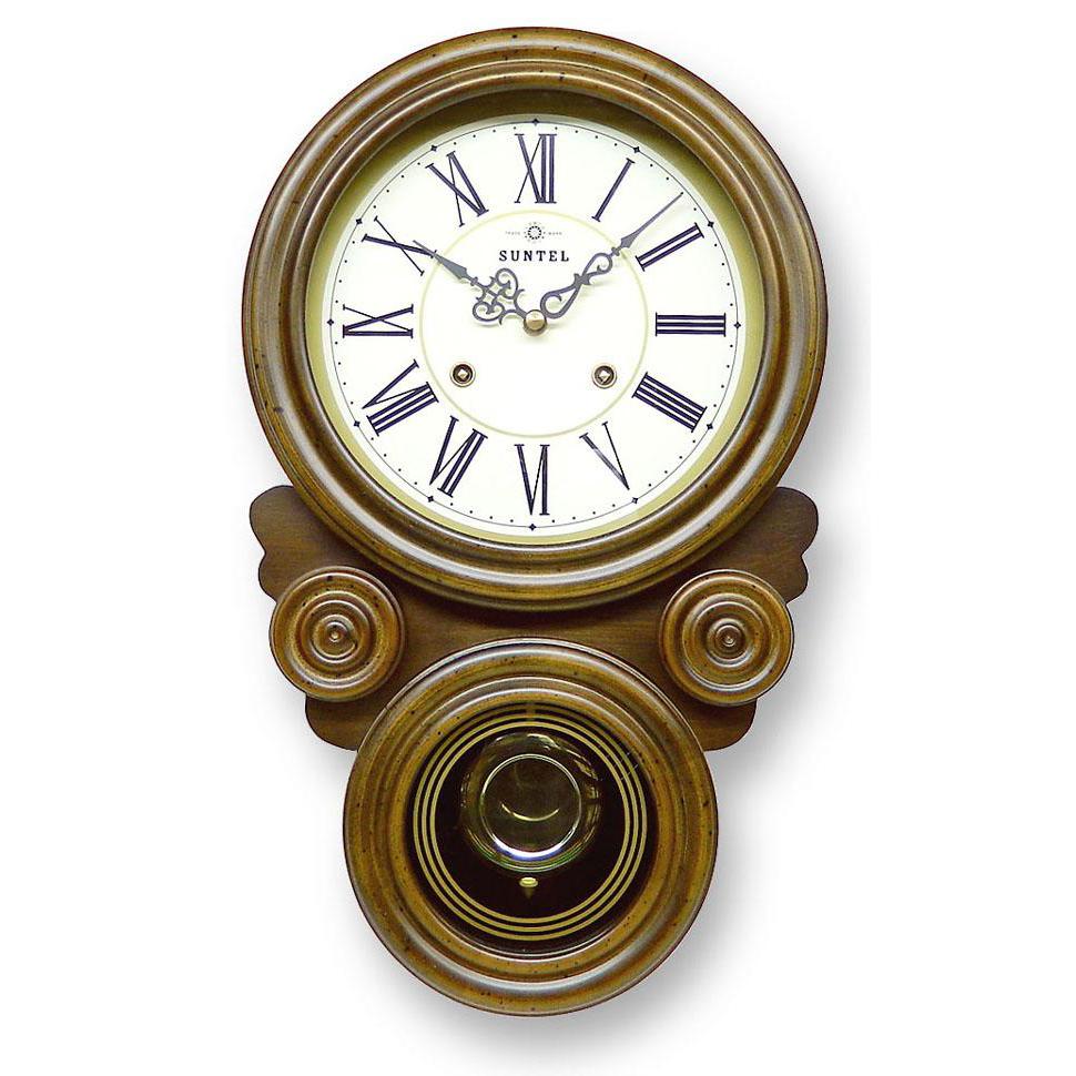ボンボン振り子だるま時計(ローマ文字) QL687R【代引不可】【北海道・沖縄・離島配送不可】