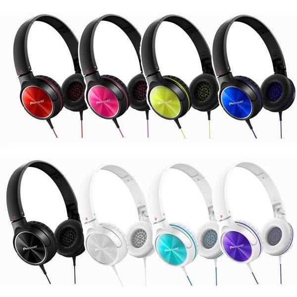 先锋 (先锋) 关闭动态立体声耳机 SE MJ522 R-红色