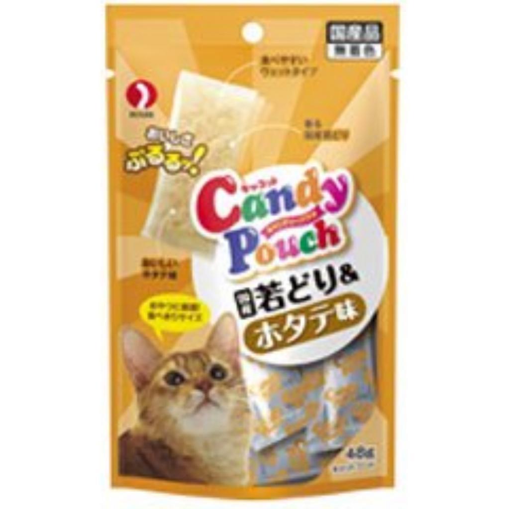 猫的宠物线对待你糖果袋国内鸡肉烤芦笋和扇贝尝 48 g