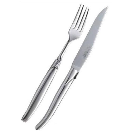 【送料無料】ラギオール アン オブラック ステンレス テーブルナイフ&フォークペアセット 5162【代引不可】