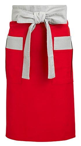 【送料無料】男性用エプロン(赤) 〔まとめ買い20個セット〕 KK-149【代引不可】