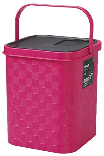 ICHIMATSUフリーボックス(ピンク) 13Lフタ付 〔まとめ買い6個セット〕 KST-042【代引不可】【北海道・沖縄・離島配送不可】